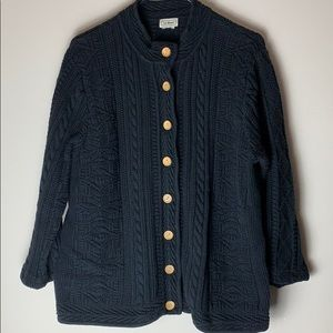 L.L. Bean Sweater with Wooden Buttons